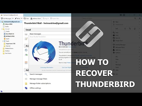 ⚕️How To Recover Emails📧, Contacts And Profiles In Mozilla Thunderbird