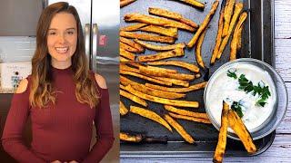 Sweet Potato Fries With Garlic Horseradish Aioli