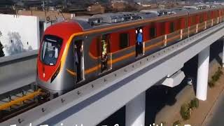 Lahore Metro Orange Train Line For Best Cheep Low-Cost Durable For Countries Also For Public