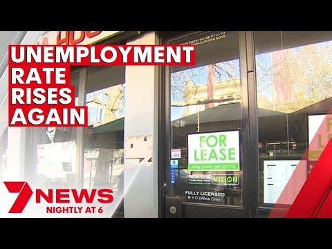 Australia's unemployment rate rises | 7NEWS