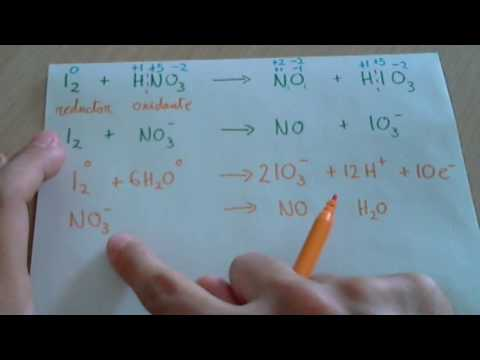 Ajustar o balancear una reacción redox en medio ácido Ejemplo 1