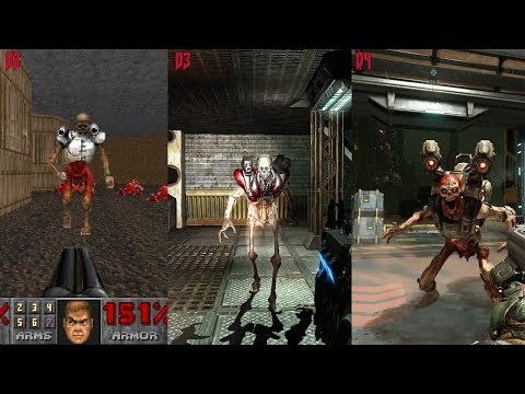 DOOM Graphics Comparison 1 vs 2 vs 3 vs 4