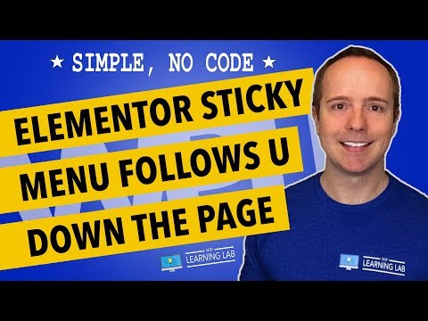 Elementor Sticky Menu - How To Do It Without An Additional Plugin