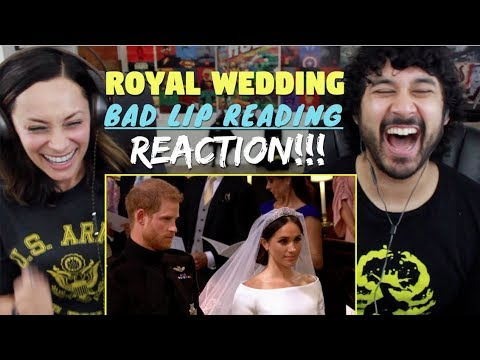 ROYAL WEDDING - A Bad Lip Reading -  REACTION!!!
