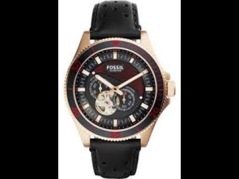 7ced09b0bb184 Relógio Fossil automatico ME30910PN - YouTube