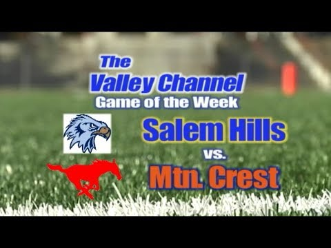 Salem Hills High School at Mountain Crest High School football game 10-27-17
