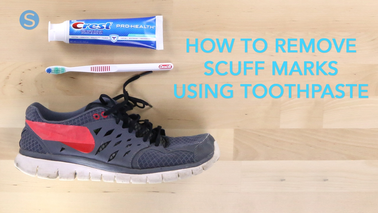 How To Remove Scuff Marks From Your Shoes Using Toothpaste ... 00132ac7b5b3