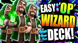 UNDEFEATED WIZARD TROPHY PUSHING DECK!! UNREAL! Clash Royale Best Wizard Deck 2018