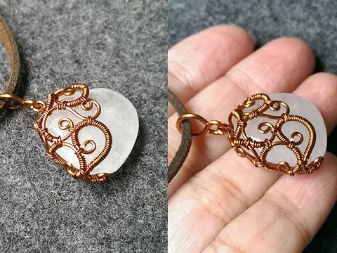 wire wrapping stone vintage pendant - How to make wire jewelery