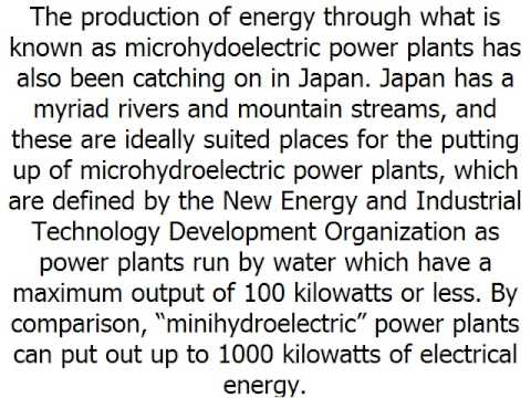 Alternative Energy Development in Japan