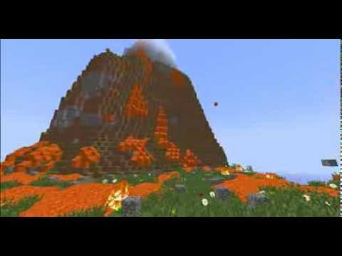 Real Erupting Volcano In Minecraft - YouTube