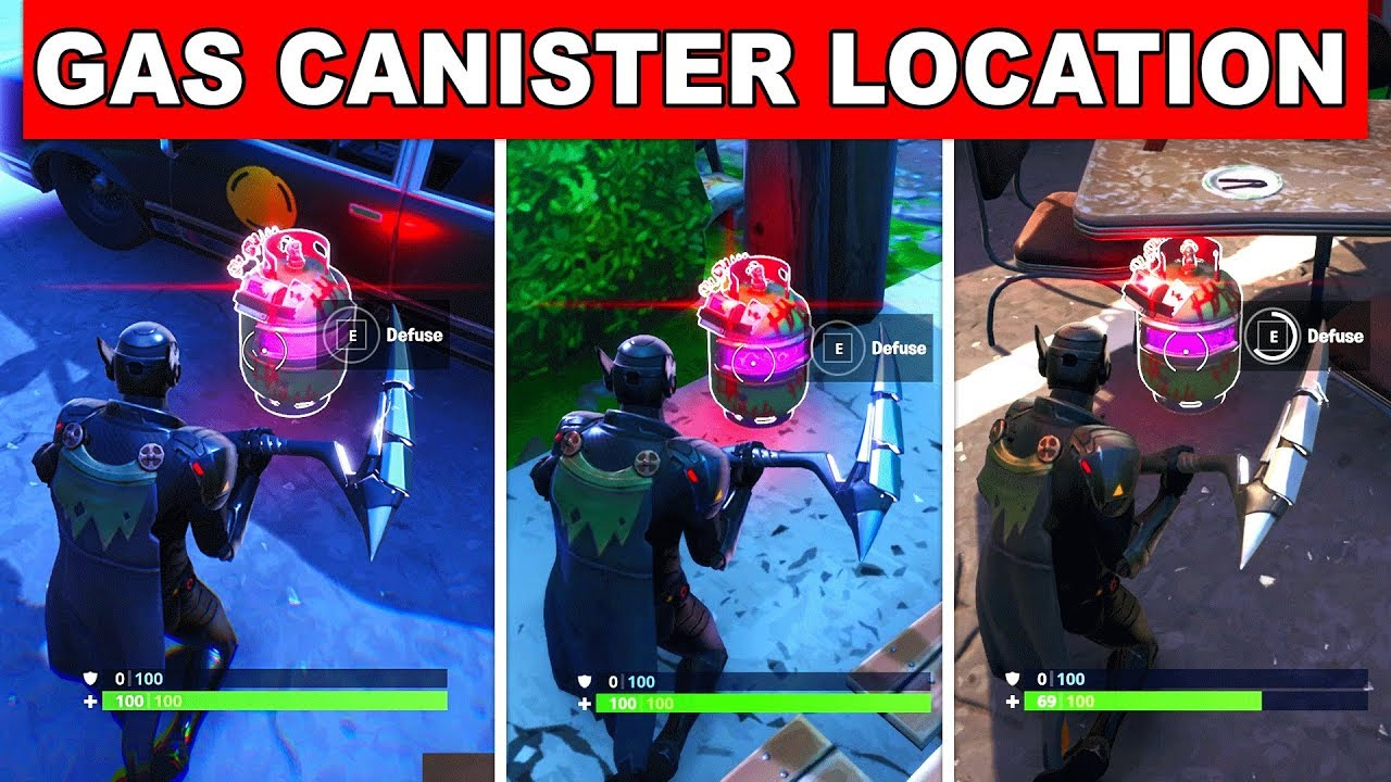 Defuse Joker Gas Canisters Found In Different Named Locations Fortnite Welcome To Gotham City Guide