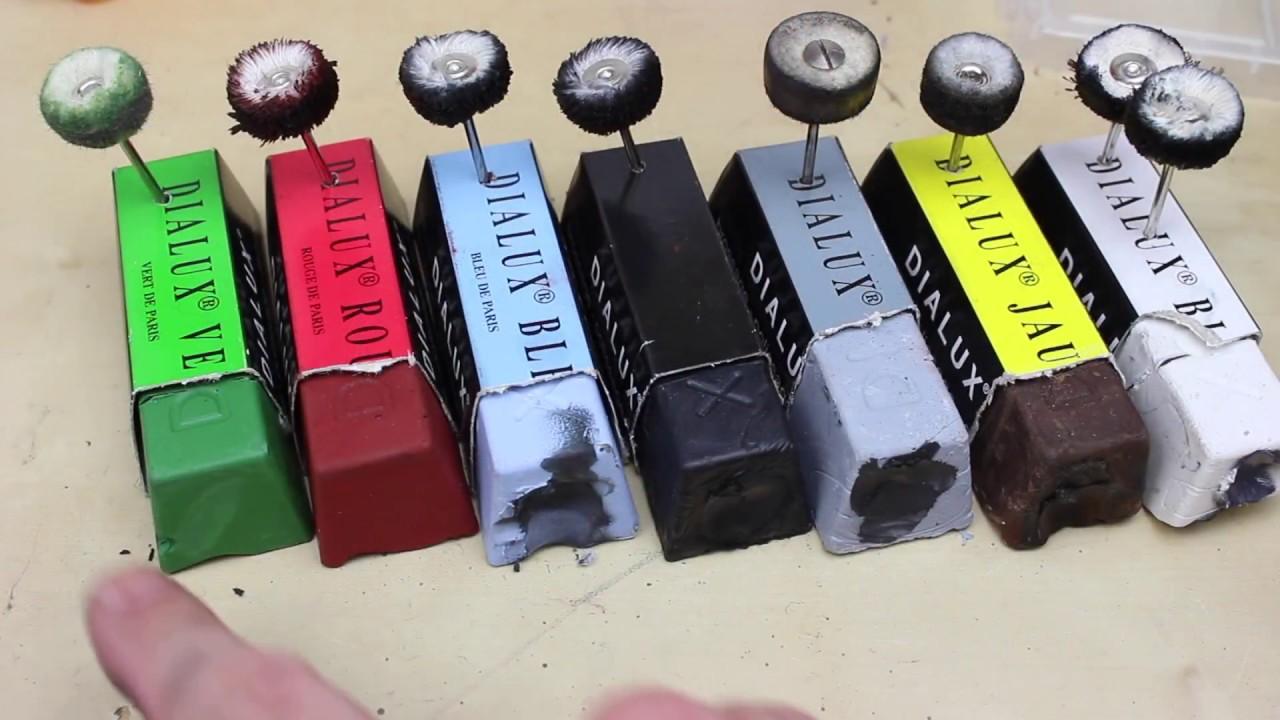 BlueSpot polissage composé polissage Bar Set métal laiton or en acier inoxydable