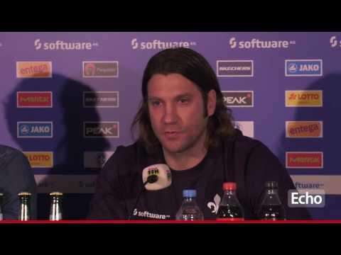 Torsten Frings erste Pressekonferenz als Trainer von Darmstadt