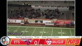 Piranha Rugby Demi-Fianle championnat RSEQ 2015 - McGill