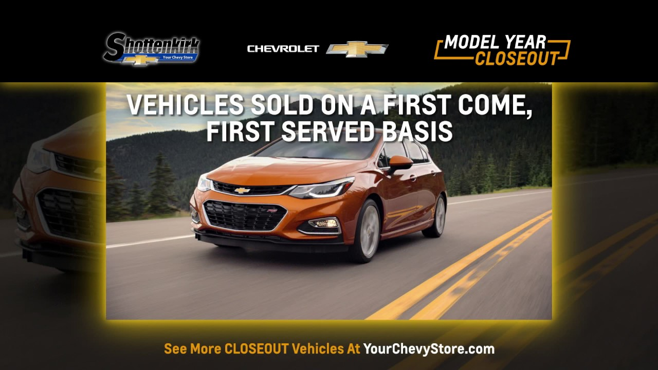 model year closeout shottenkirk chevrolet youtube. Cars Review. Best American Auto & Cars Review