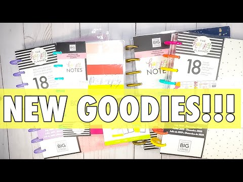 HAPPY PLANNER HOBBY LOBBY HAUL | NEW MAMBI RELEASE PLANNERS + JOURNALING HAPPY NOTES