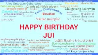Jui   Languages Idiomas - Happy Birthday