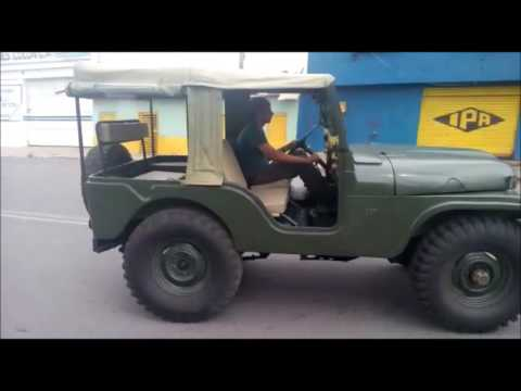 Jeep willys early cj5 m38a1 - YouTube