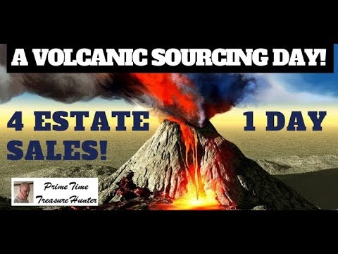 Volcanic Sourcing Day At 4 Estate Sales! Check Out What I Found!