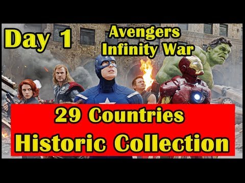 Avengers Infinity War Record Breaking Collection Day 1 In 29 Countries