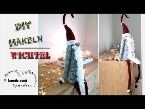 DIY Häkeln – Anleitung Großer Wichtel sitzend / Crochet – Pattern Great Witch sitting