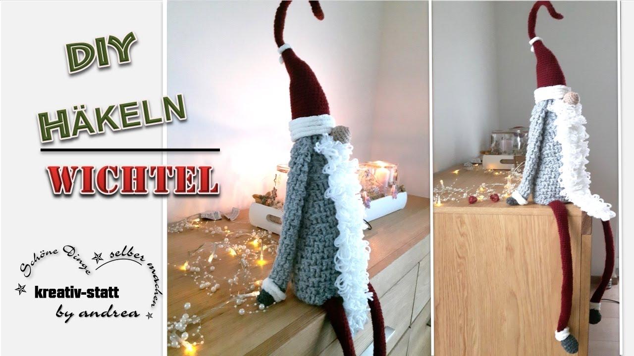Diy Häkeln Anleitung Großer Wichtel Sitzend Crochet Pattern Great Witch Sitting