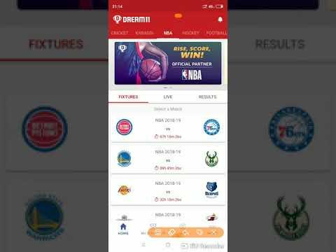 Dream 11 Teams: - NBA Updates: -DET 🆚 PHI & GSW 🆚 MIL