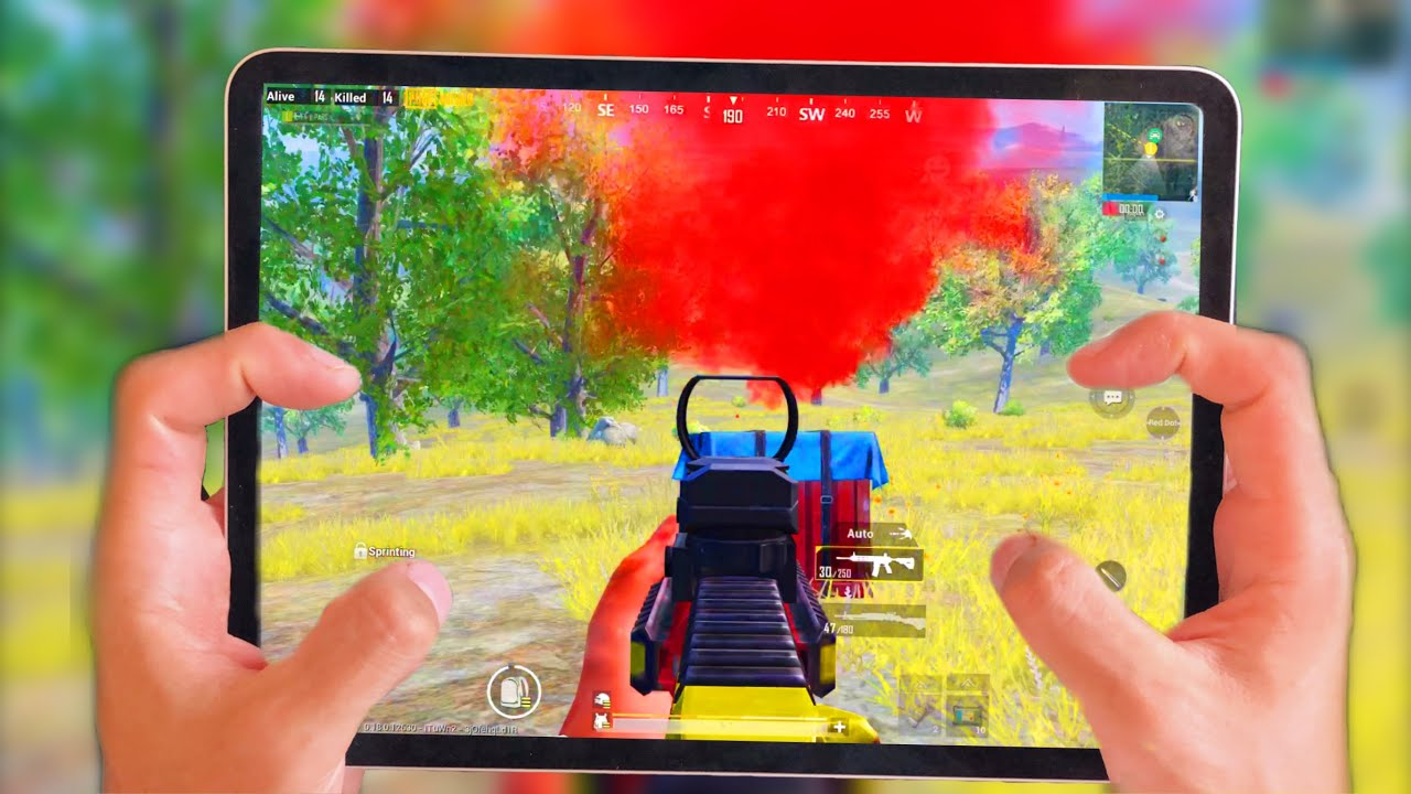 IPAD PRO 2020 PUBG HANDCAM GAMEPLAY 4 FINGER + Full GYROSCOPE