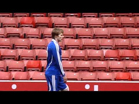 Bradley James Playing In The Big Match