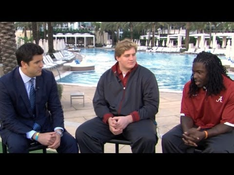Alabama Football Players Eddie Lacy, Barrett Jones Discuss BCS Title Win Over Notre Dame
