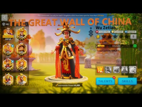 WU ZETIAN IN ACTION - THE GREAT WALL OF CHINA | Rise Of Kingdoms