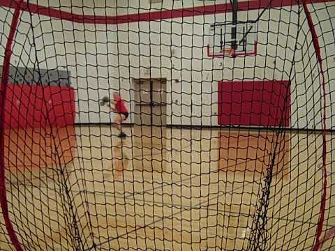Fielding, Groundballs, third base position, softee ball, in gym