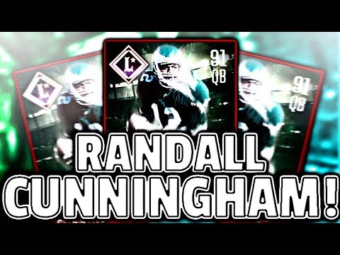 GLITCH! MOST FEARED RANDALL CUNNINGHAM GAMEPLAY! - Madden Mobile 18
