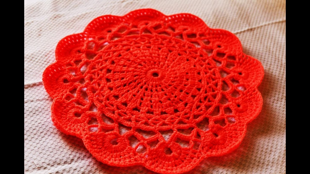 Crochet Table Placemat Part 1 Of 2 Crochet Doily Crochet Table