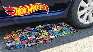 EXPERIMENT: CAR VS 100 HOT WHEELS TOY CARS