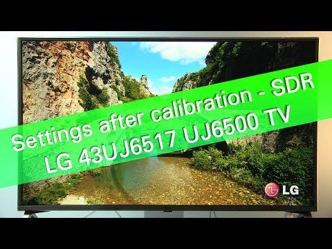 LG 65UF850 4K HD TV Picture Settings - YouTube