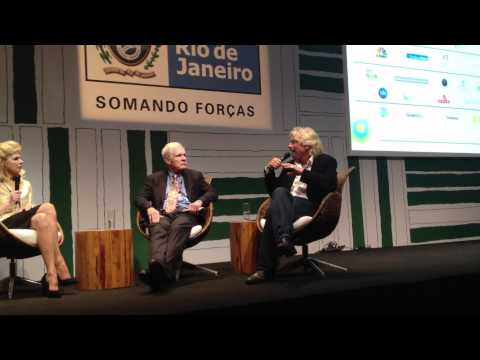Richard Branson talks with Ted Turner about saving the high seas at Rio+20