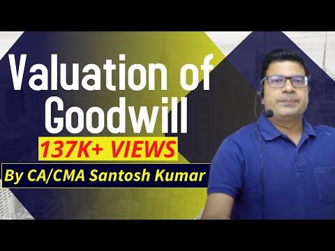 Valuation of Goodwill  for  CS executive, CA inter, CMA final,  B.COM by SANTOSH KUMAR (CA/CMA)