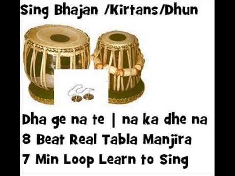 keherwa  dha ge na te na ka dhe na 8 beat real tabla manjira loop taal gujarati bhajan kirtan dhun