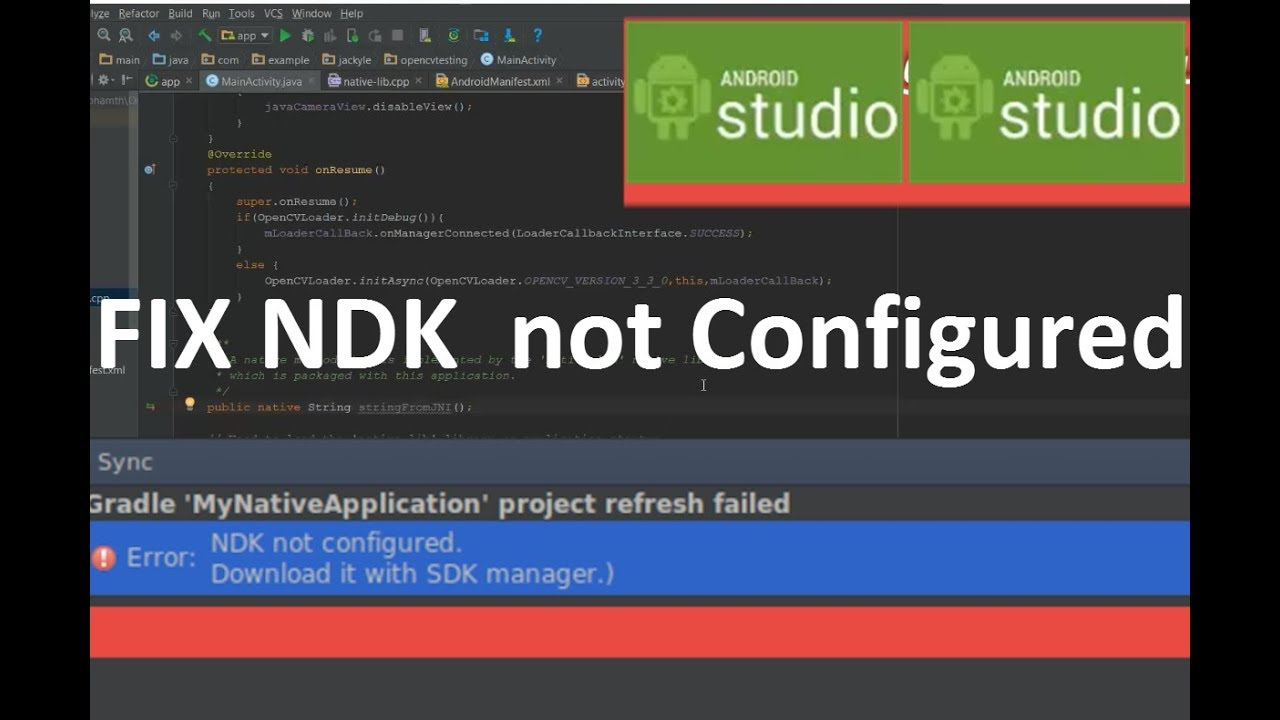 Fix NDK not configured on Android studio