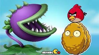 Carnivorous Plants Vs Angry Birds Walkthrough All Levels (Angry Birds & Plants vs Zombies)