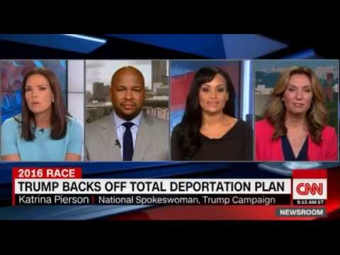 CNN Panel Literally Laughs At Trump Spox Katrina Pierson's Spin on Her Boss's Immigration Flip