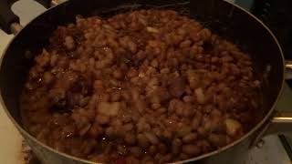 Finish Cooking My Beans And  Turkey Meat