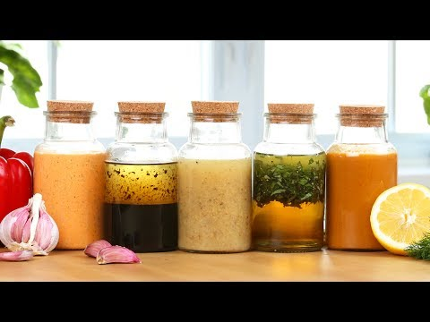 5 EASY Salad Dressings