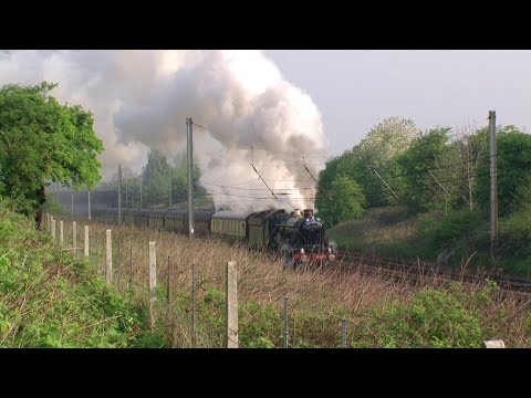 GWR 5029 Barks Away On The Great Britain Four Rail Tour 22/4/11.