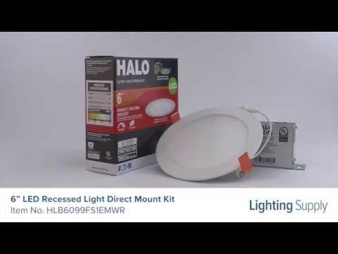 halo 6 led recessed light direct mount kit hlb6099fs1emwr