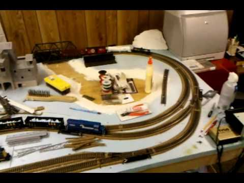 My small ho scale train layout youtube - Ho scale layouts for small spaces concept ...