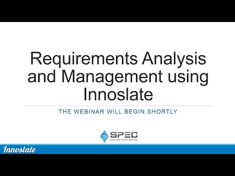 Requirements Analysis and Management Webinar 3-29-2017