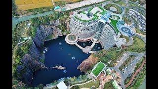 В Китае открыли первый в мире отель под землей